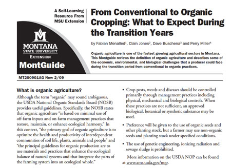 Montguide- Transitioning to organic