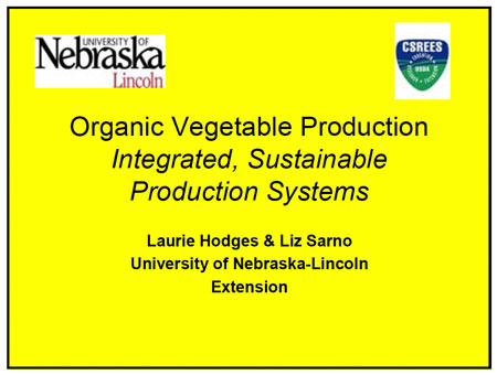 Organice Vegetable Production