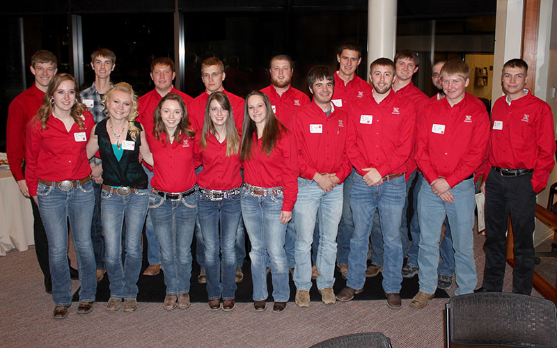 Agronomy club at AHGSA Banquet