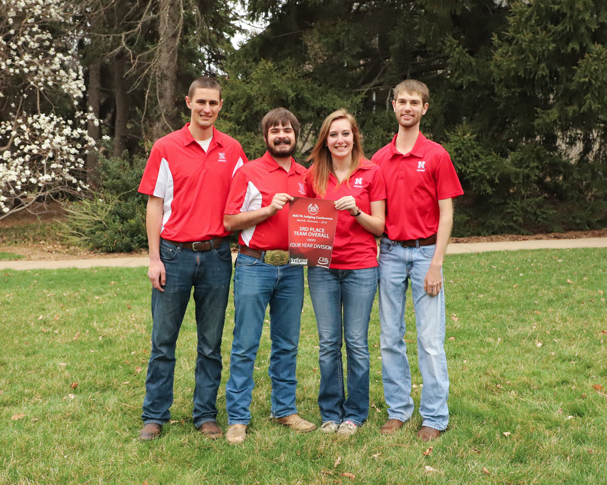 UNL Crops Judging winning team