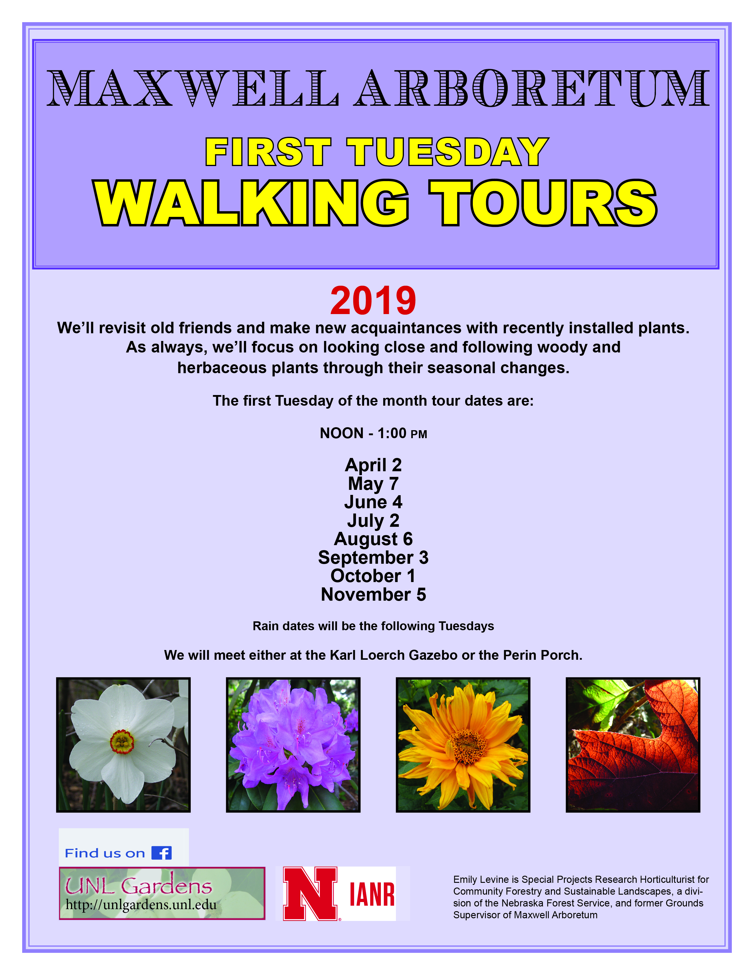 Earl G. Maxwell Arboretum First Tuesday Walking Tours