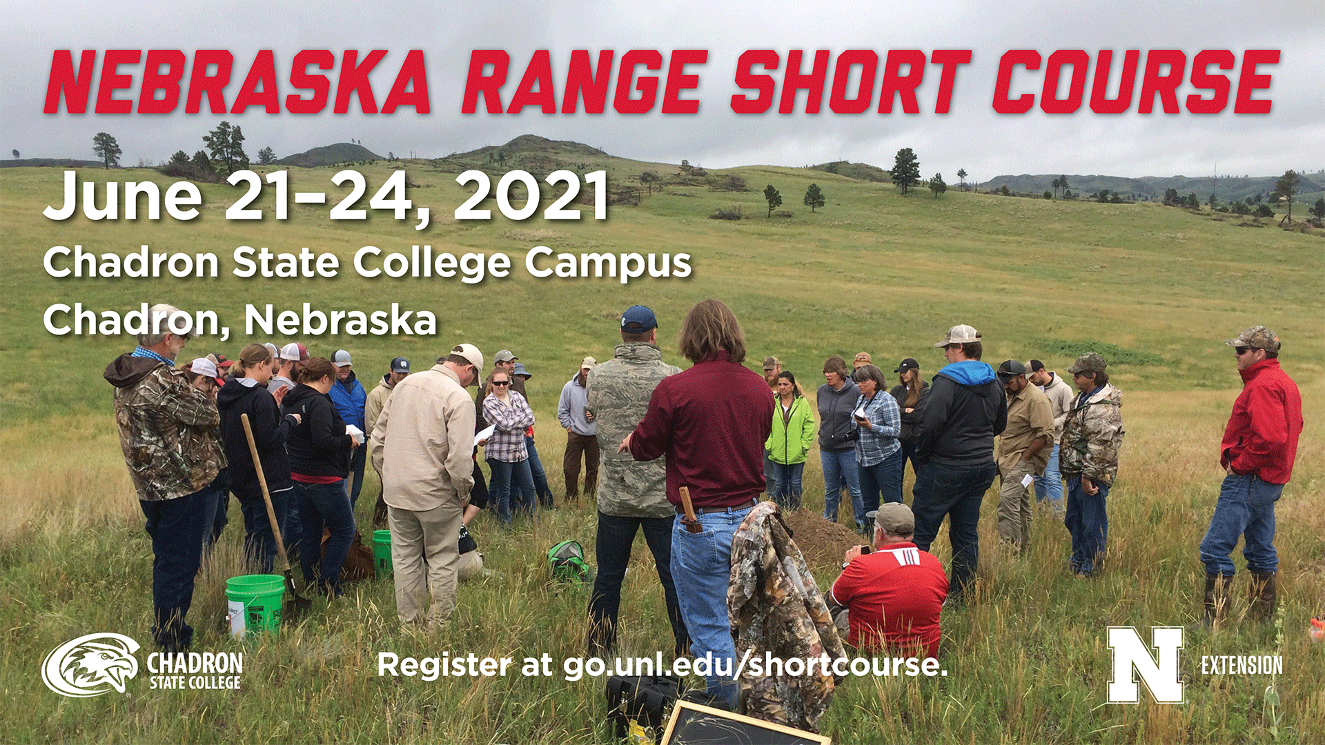 The Nebraska Range Short Course will be held at Chadron State College June 21–24.