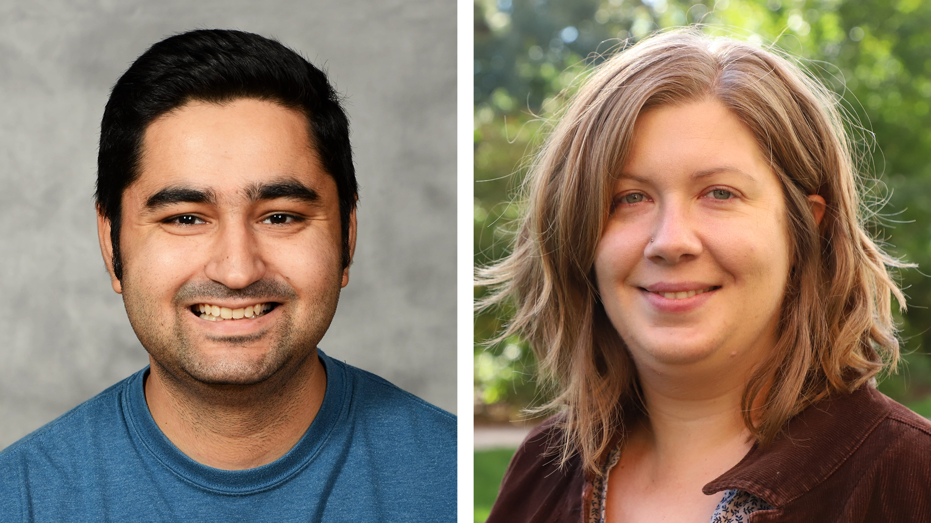 Puneet Paul (left) and Jennifer Cooper, postdoctoral research associates of agronomy and horticulture, will present this fall's first Agronomy and Horticulture Seminar Sept. 11.
