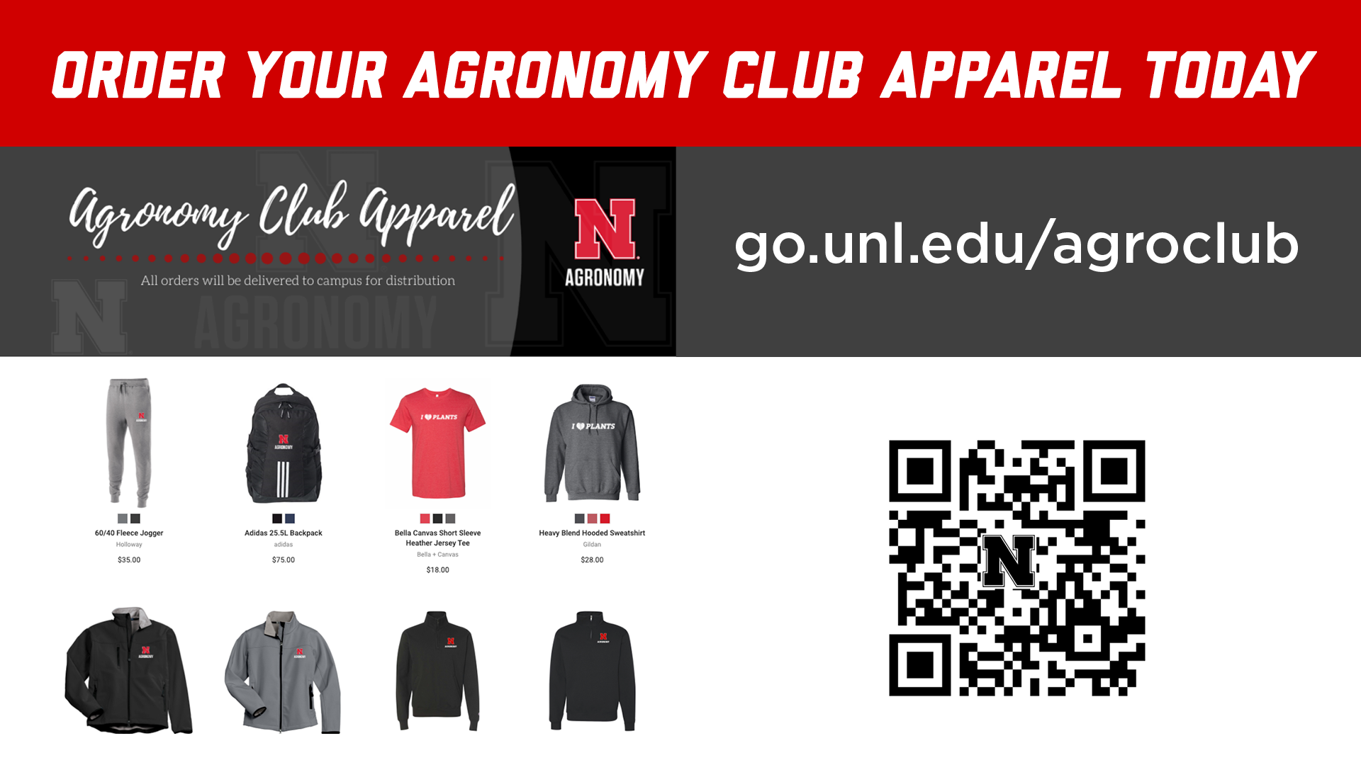 The Agronomy Club apparel sale is going on now until Feb. 21.