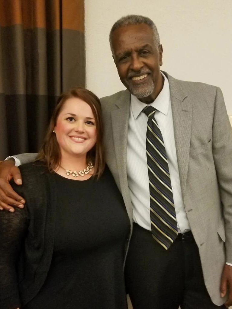 Brooke Blessington with Dr. Gebisa Ejeta, 2009 World Food Prize Laureate, at the 2018 U.S. Borlaug Summer Institute on Global Food Security.