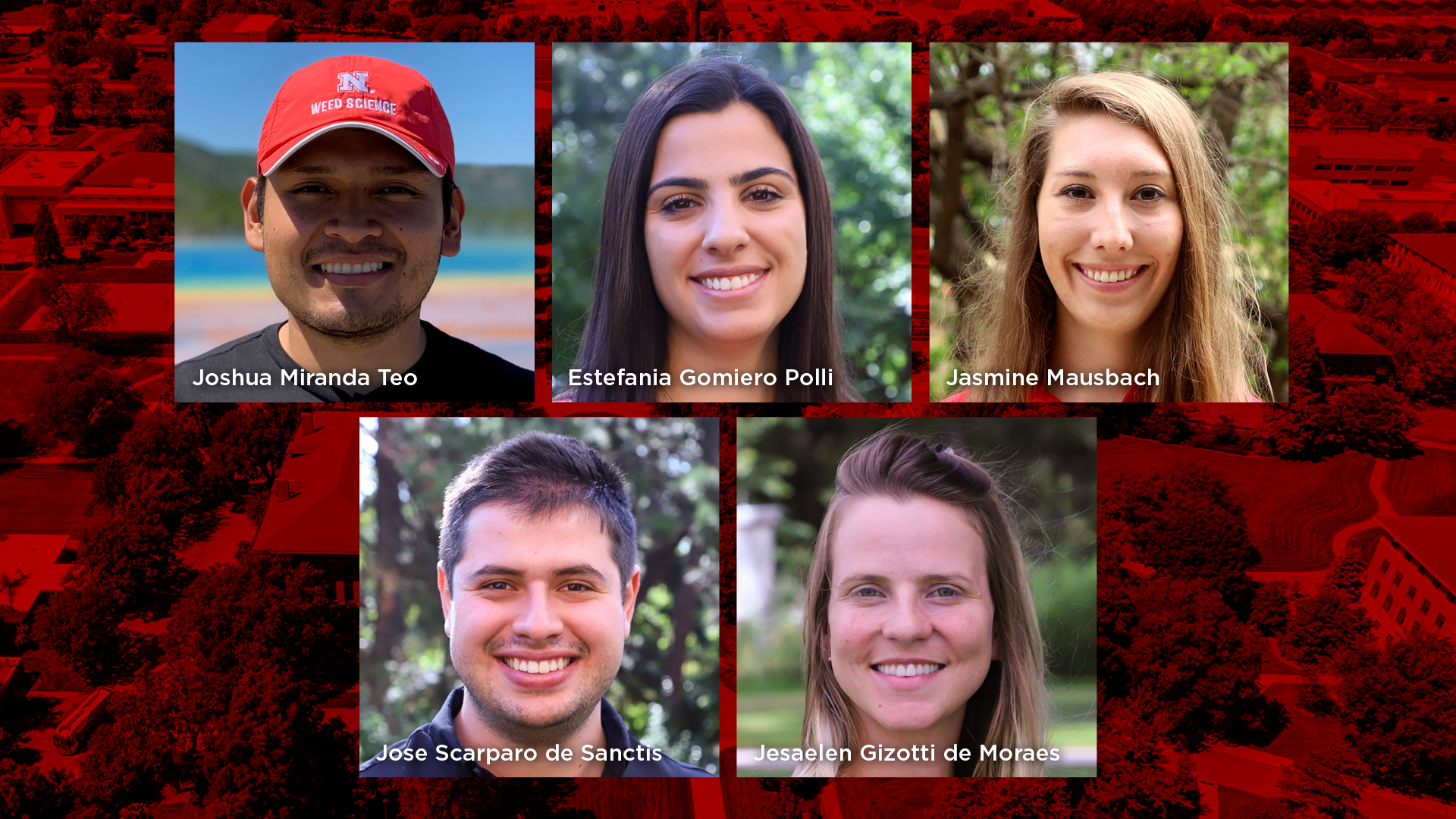 Five graduate students earned top honors in the Weed Science Society of America student poster and presentation contests held during the virtual 2021 annual meeting Feb. 15–19.