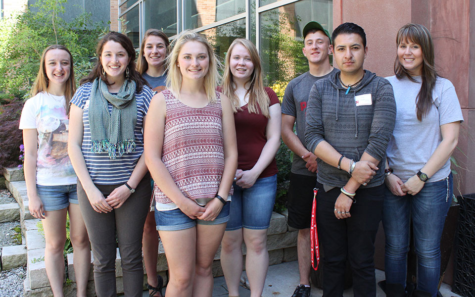 Undergraduate Research and Extension Experiential Learning Fellowship participants