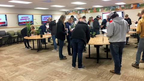 Nebraska FFA members participate in Experience Agronomy Day 2020.