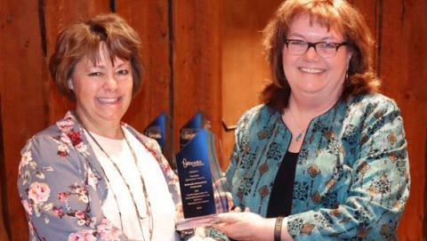 Lisa Jasa receiving award