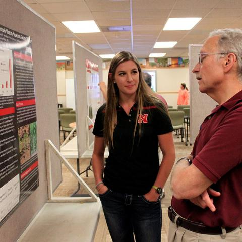 Martina La Vallie, Augustana University, Professor Dennis McCallister, UNL