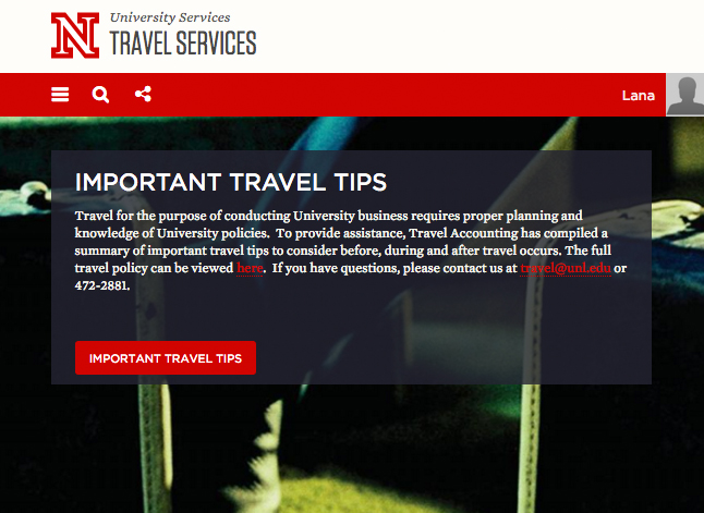 University of Nebraska Travel Requirements