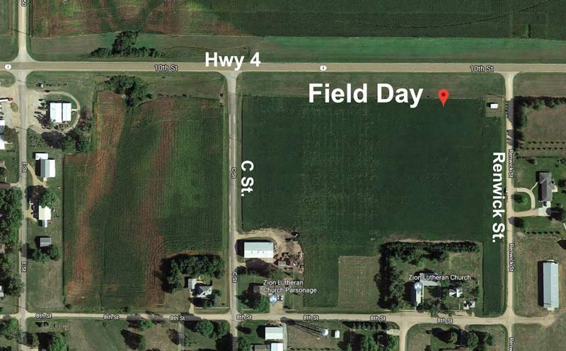 2018 Glyphosate-Resistant Palmer amaranth Management Field Day location map